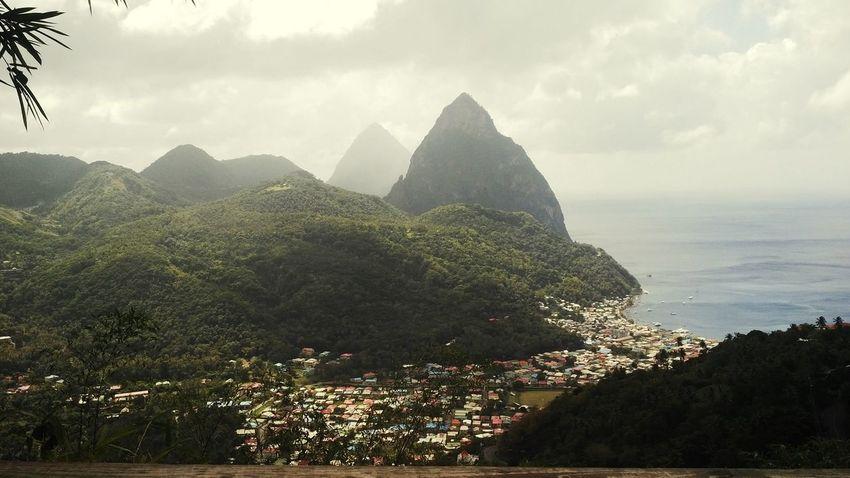 Taking Photos Enjoying The View Caribbean Piton