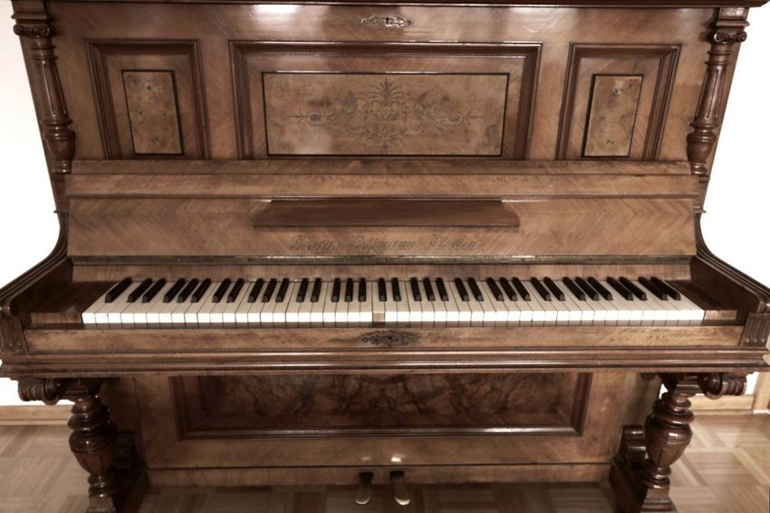 117 years old Wood Piano Music Arts Culture And Entertainment Piano Key Wood - Material Musical Instrument Classical Music Indoors  No People Wood Grain Close-up Performing Arts Event Piano Moments Symmetry Distortion Ultra Wide Angle Wide Angle BYOPaper!