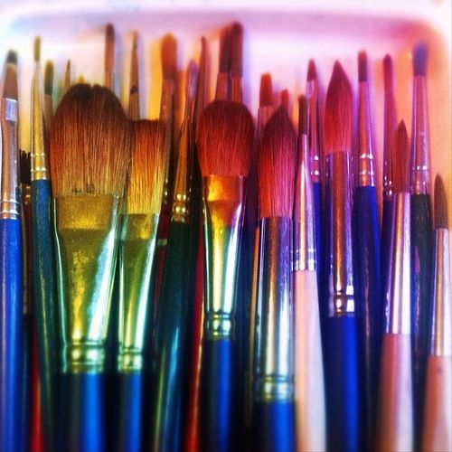 A selection of my paint brushes. Metal_nio and @nothingisordinary_ having fun with a focus on metal.