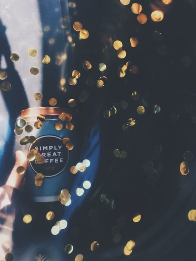Paper Cup Gold Sparkles Take A Break Coffee Art Coffeetime Coffee Time Coffee Cup Coffee Shiny Pattern Indoors  Backgrounds Gold Colored Luxury No People Celebration Day Close-up EyeEmNewHere