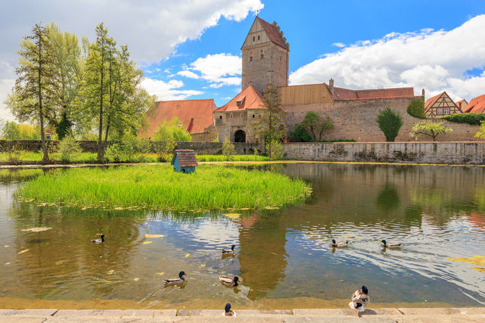 Rothenburger Tor und Weiher in Dinkelsbühl Architecture Beauty In Nature City City Wall Cloud - Sky Day Dinkelsbuhl Dinkelsbuhl Franconia Franken History Lake Lake View No People Outdoors Rothenburger Tor Travel Destinations Wallpaper Water Waterfront Weiher