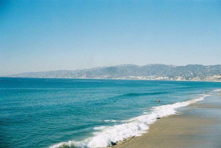 Seaside Santa Monica Filmcamera Film 35mm Film Film Photography Konica Taking Photo America Taking Photos Take Photos Taking Pictures California Sea Swimming In Winter Swimming