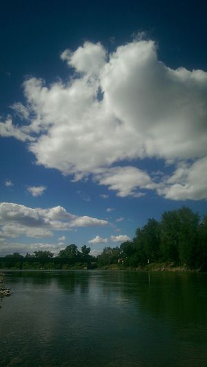 Beautiful NorCal day Water Cloud - Sky Reflection Sky Nature Landscape River Sacramento River Northern California Norcal Eye4photography  EyeEm Gallery Nature Photography Mobile Photography Outdoors Clouds Spring Beauty In Nature Beauty Everywhere SkyPics Cloudpics Red Bluff, California Go Outside