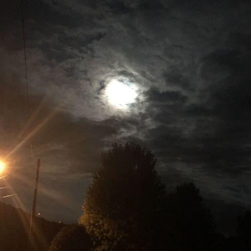 Eerie moon The
