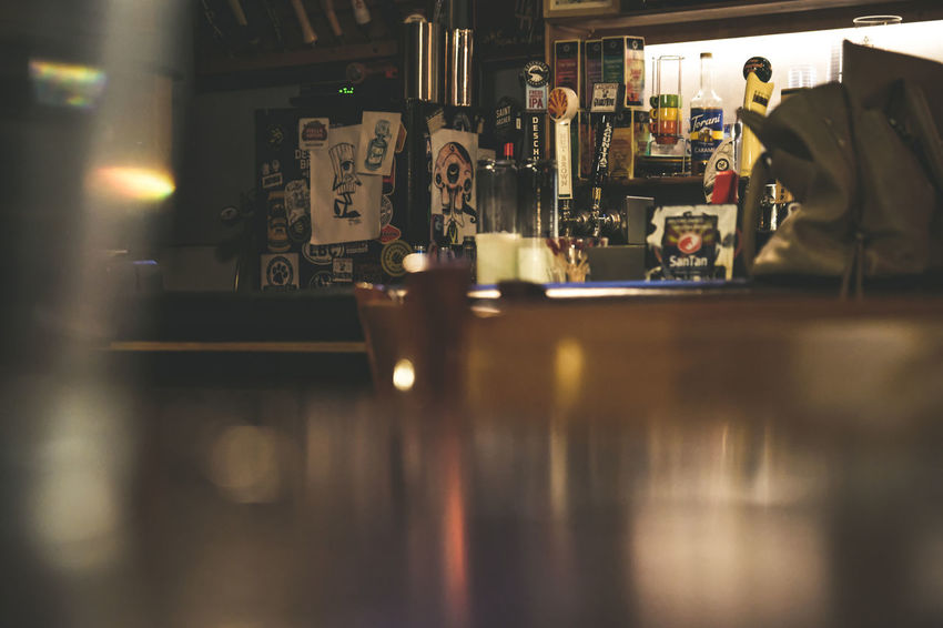 Bar - Drink Establishment Bar Counter Cafe Commercial Kitchen Day Drink Focus On Background Food Food And Drink Food And Drink Establishment Food And Drink Industry Freshness Indoors  No People Occupation Refreshment Restaurant Selective Focus Service Working
