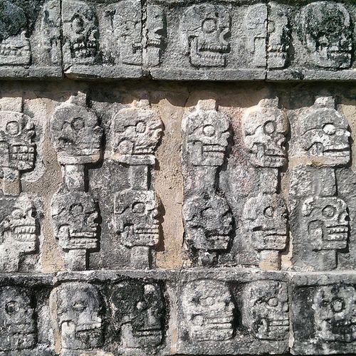 The Platform of the Skulls, Chichén Itzá Yúcatan Chichenitza Mexico Maya Tzompantli Skull skullsofinstagram