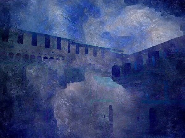 Painting with apps. Milano Italy Castello Sforzesco Painterly NEM Painterly Silk Effect Milan Castle Mobile Art