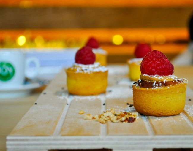 Close-Up Of Dessert On Table