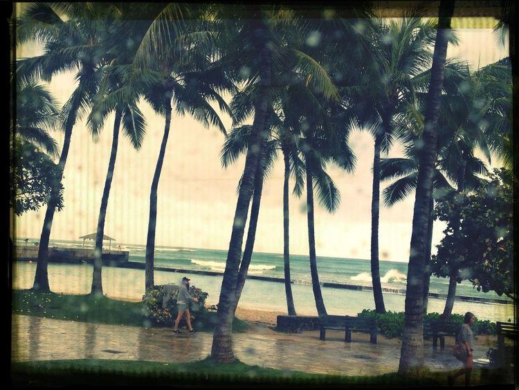 Waikiki Beach when it's not sunny!!!