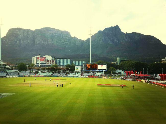 Sunday was Hot ...watching PAK V SA ... at Newlands Sahara Park Southafrica Capetown Sport Watching Cricket