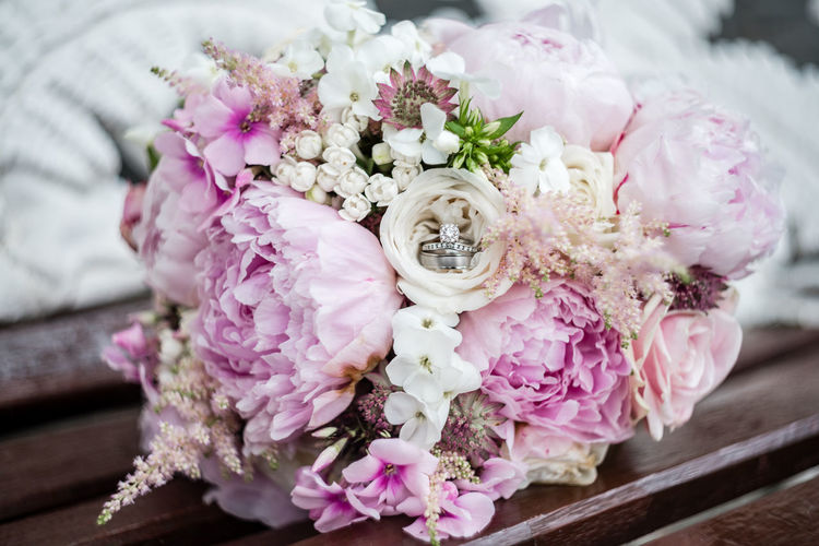 Wedding Arrangement Beauty In Nature Bouquet Bunch Of Flowers Celebration Close-up Event Flower Flower Arrangement Flower Head Flowering Plant Fragility Freshness Inflorescence Nature No People Petal Pink Color Plant Ring Vulnerability  Wedding