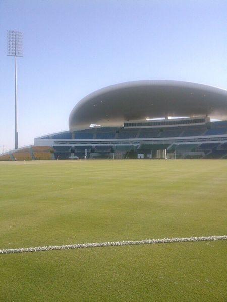 Sheik Zaheed Stadium, Abu Dhabi Sheik Zaheed Stadium cricket Cricket Ground Clear Sky No People Stadium Day Grass Outdoors Sport Soccer Field Nature