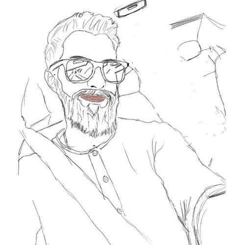 Autodesksketchbook Sketchbook Drawing Painting Paint Draw Beard Bearded Me Pencil Glasess Selfie