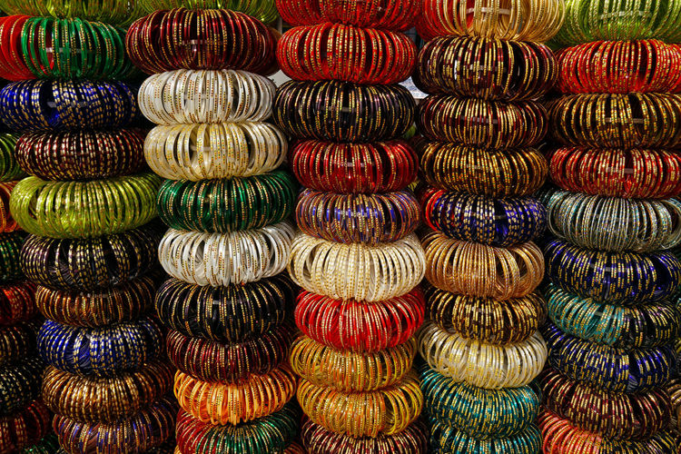 Abundance Arrangement Backgrounds Bazaar Bracelet Choice Colorful Colors For Sale Full Frame In A Row Large Group Of Objects Market Market Stall No People Retail  Store Variation