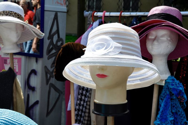 Berlin Berlin Street Markets Close-up Decoration Dummy Dummy Heads Flea Market Flea Market Finds Focus On Foreground Germany Hat No People White Woman's Hat