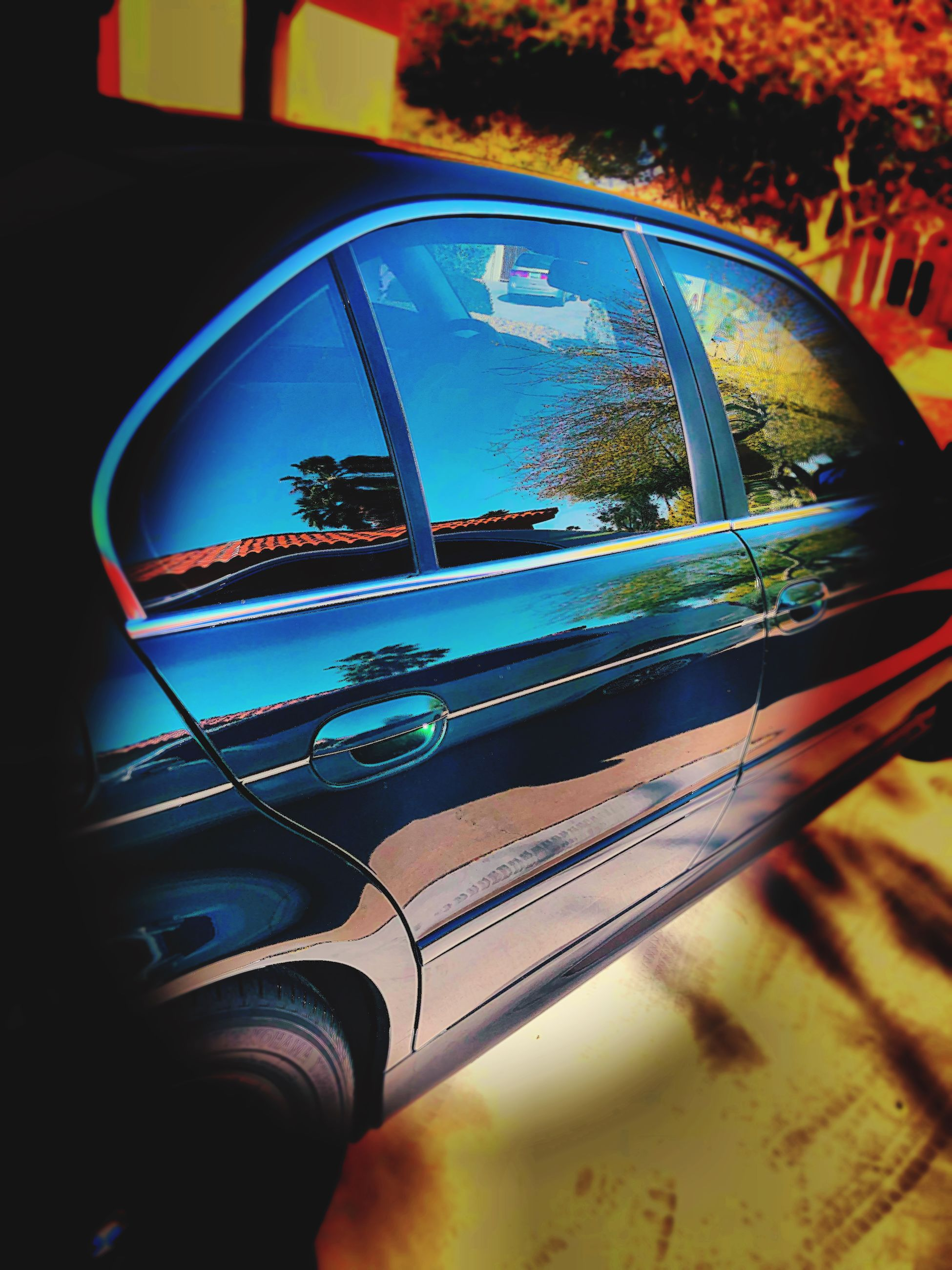 motor vehicle, car, reflection, land vehicle, transportation, mode of transportation, glass - material, side-view mirror, human body part, real people, human hand, one person, tree, nature, hand, transparent, day, close-up, vehicle interior, travel, outdoors, finger, road trip