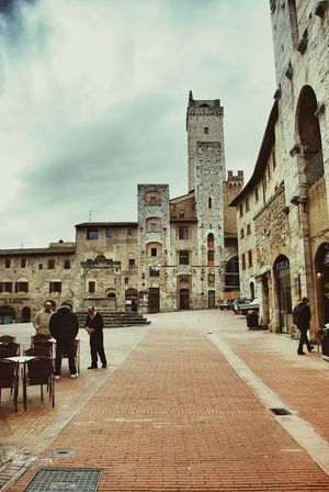 San Gimignano Unesco World Heritage MedievalTown Medieval Architecture City Square Historical Center Towers Restaurant Stone Patterns Brick Pattern Seeing The Sights Italy Tuscany Urban Geometry Bella Italia