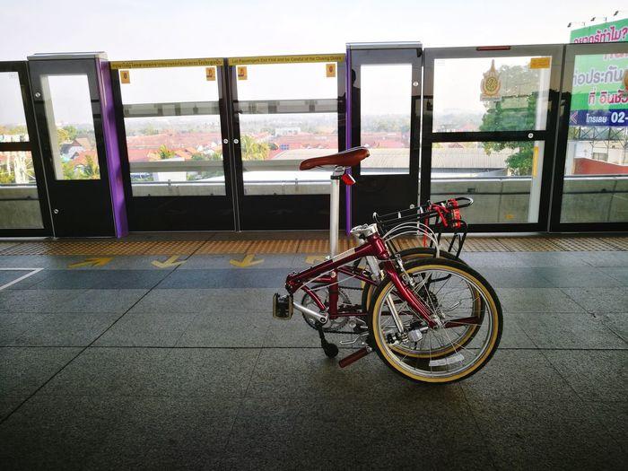 Bicycle Transportation City Outdoors No People Cycling Sky Day Skytrain Skytrainbangkok