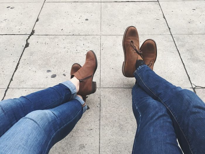 EyeEm Selects Human Leg Shoe Low Section Jeans Human Body Part Personal Perspective Human Foot Limb Real People High Angle View Casual Clothing Standing Men Lifestyles Leisure Activity Canvas Shoe Sidewalk People Day
