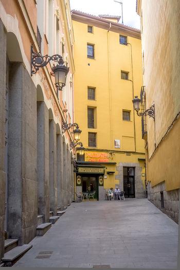 Street amidst buildings in town