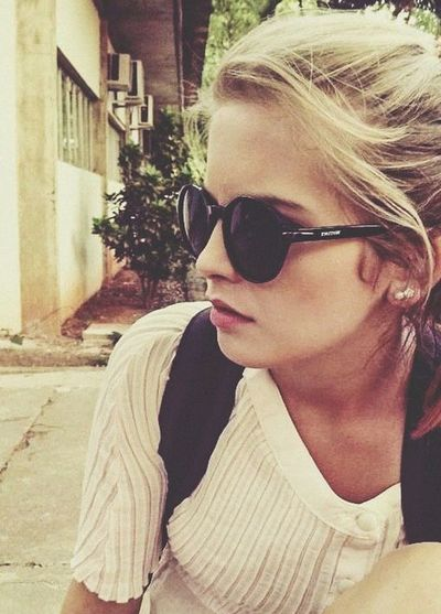 Sunglasses Model Blonde Street Fashion