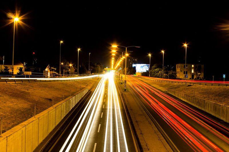 OpenEdit Eye4photography  Longexposure Eye Light Trail Long Exposure Street Light Street Night Transportation Motion City Architecture