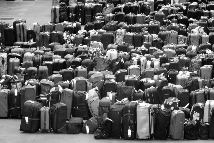 Arrangement Baggage Baggage Claim Beautifully Organized Black & White Black And White Black And White Collection  Black And White Photography Black&white Cruise Ship Photos Grayscale Greyscale In A Row Luggage Luggage, Travel  People Repetition Suitcases Travel Photography Valise What Who Where Let's Go. Together.