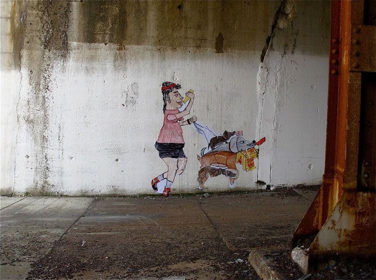 Graffiti Cityscape Street Art Urban Landscape