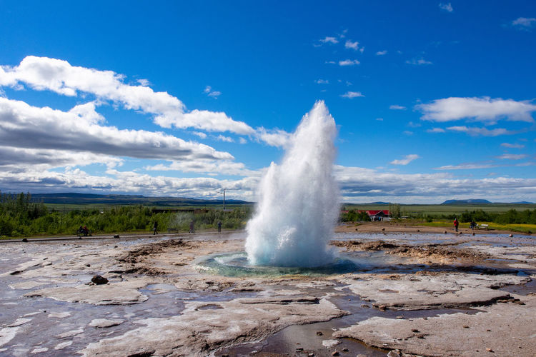 Outdoors Scenics - Nature Power In Nature Hot Spring Geyser Geology Erupting Landscape Power Environment Nature Water Spraying Stokkur Iceland Volcanic Activity Geothermal Activity Geothermal  Energy Travel Destinations Golden Circle