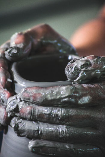 The hands of the maker Tradition Art And Craft Body Part Close-up Culture Cultures Detail Finger Focus On Foreground Hand Holding Human Body Part Human Finger Human Hand Indoors  Jewelry Lifestyles One Person Real People Sculpture Unrecognizable Person