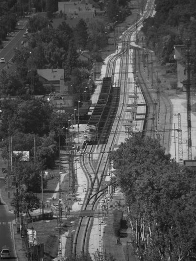 Hungary NOHAB Bird View Blackandwhite Day Mode Of Transport Train Train Station Transportation