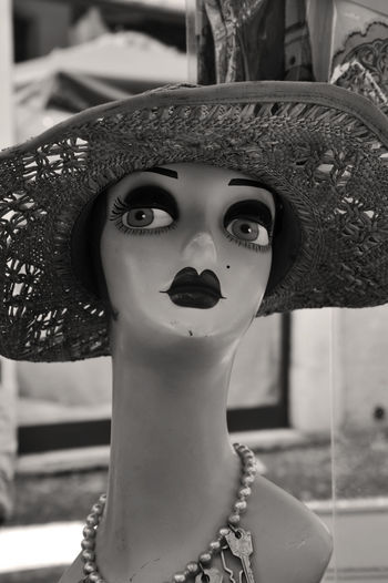 50's Style 60's Style.... Vintage Style Dummy Dummy Heads Dummy Photos Focus On Foreground Hat Human Representation No People Vintage Vintage Photo Dummies Dummy Missions Dummys Woman Fashion Icon Symbol Iconic Images