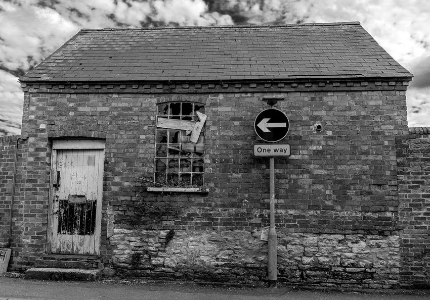 Abandoned workshop, Union Street, Newport Pagnell, Buckinghamshire Newport Pagnell Monochrome Black And White High Street Buckinghamshire Architecture Workshop