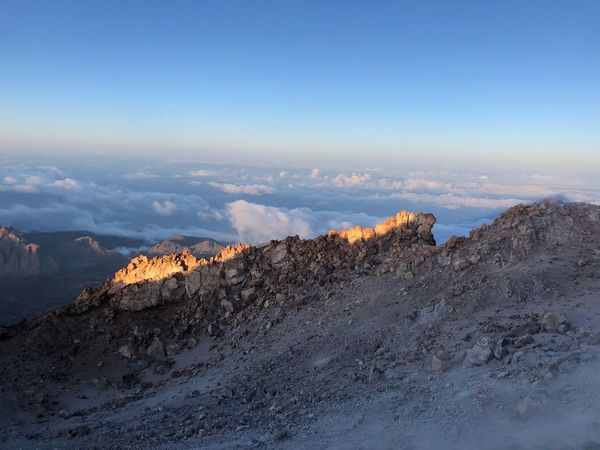 Volcano Teide, Tenerife 🇪🇸 Sunrise Mount Teide Teide National Park Clouds SPAIN Tenerife Nofilter Sky Beauty In Nature Sea Nature Cloud - Sky Scenics - Nature No People Rock Tranquility Power In Nature Rock - Object