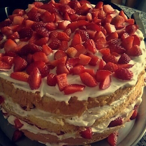 Best Ever. Cake Stramberrys Bolo Food