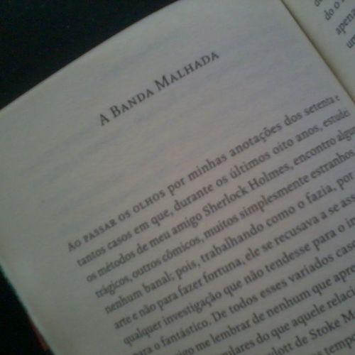 Conto de hoje: A banda malhada Livro: As aventuras de Sherlock Holmes - Conan Doyle Sherlockholmes Contos Tales Conandoyle sirarthurconandoyle book livro leituradodia holmesfan