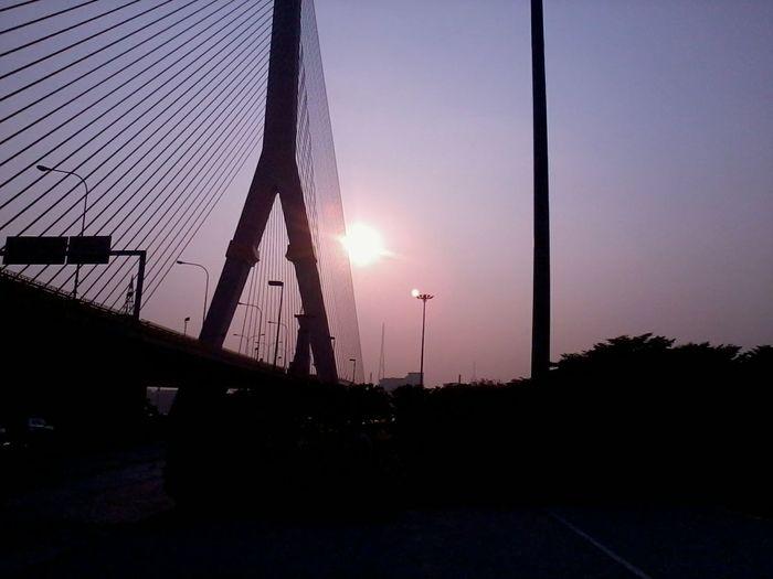 'enjoy The Sun Enjoying Life , Taking Photos at Rama8th bridge, Bangkok,Thailand(Siam)