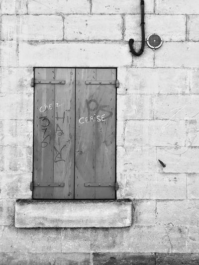Chez Cerise Black And White Collection  Blackandwhite Minimalobsession Minimalism Minimal Built Structure No People Architecture Wall - Building Feature Building Exterior Closed Brick Wall Wall
