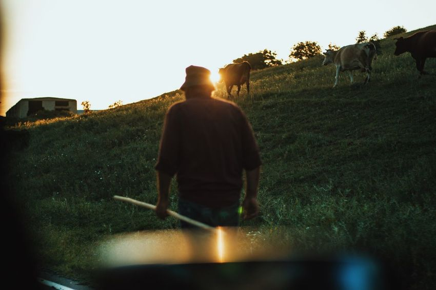 https://www.instagram.com/david_sarkisov_photography/ Agriculture Clear Sky Farmer Field Grass Growth Land Landscape Lens Flare Men Nature Occupation One Person Outdoors Plant Real People Rear View Sky Sunlight Working The Portraitist - 2018 EyeEm Awards The Great Outdoors - 2018 EyeEm Awards The Traveler - 2018 EyeEm Awards The Photojournalist - 2018 EyeEm Awards Summer Road Tripping