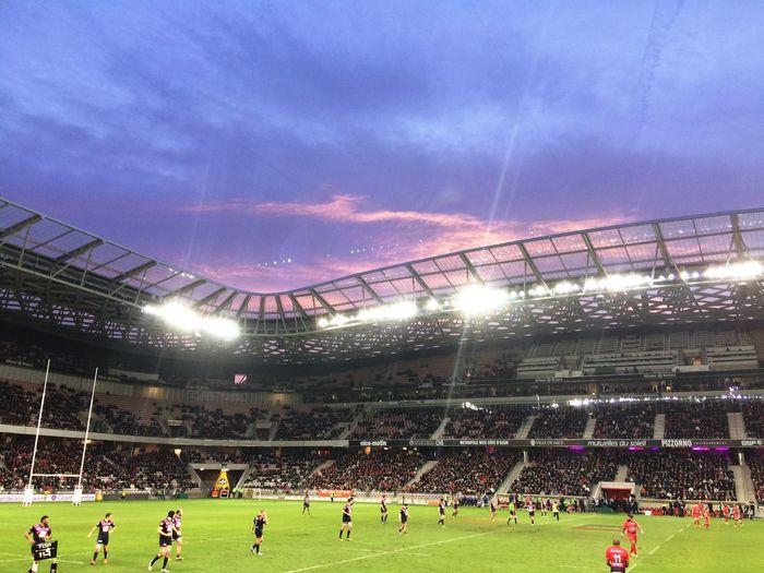 Sunset Stadium Rugby Sport Allianzriviera BestEyeemShots