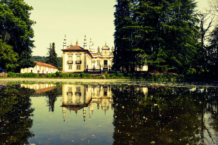 Palácio de Mateus, Vila Real Architecture Building Exterior Built Structure Day Dome Espelhodeagua Nature No People Outdoors Palaciodemateus Palm Tree Place Of Worship Reflection Religion Sky Tree Vilareal Water