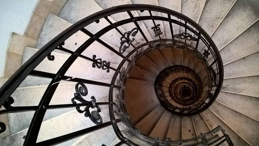 #Basilica #budapest #lumiaphoto Architecture Built Structure Day High Angle View No People Railing Spiral Spiral Staircase Spiral Stairs Staircase Stairs Steps Steps And Staircases