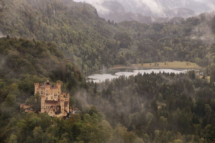 GERMANY🇩🇪DEUTSCHERLAND@ Castle Bavaria Bayern Germany Ludwig II Disney Cinderella Hohenschwangau Woods Architecture German Castle