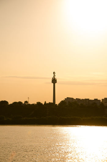 Architecture Building Exterior Built Structure Distant Light Silhouette Sky Tall Tower