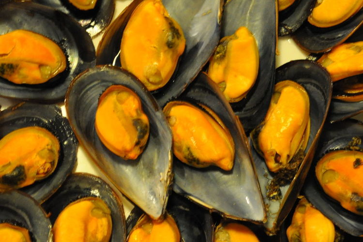 Come close NikonD5000 Nikonphotographer Nikonphotography Nikon ComeClose Abundance Animal Backgrounds Close-up Food Food And Drink Freshness Full Frame Healthy Eating Indoors  Large Group Of Objects Mejillones Mussel No People Seafood Temptation Wellbeing Yellow