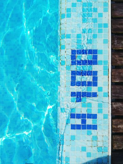 Swimming Pool Water Blue No People Day Outdoors Architecture Close-up Pixelated