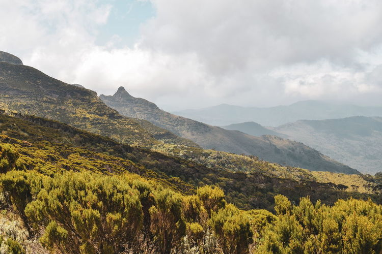 Volcanic rock formations at aberdare ranges on the flanks of mount kenya