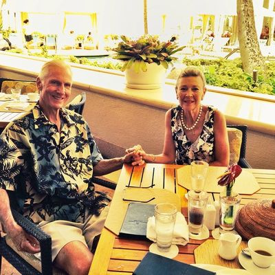 Parents in Maui, Four Seasons breakfast. Edited by me. (Not taken by me.)