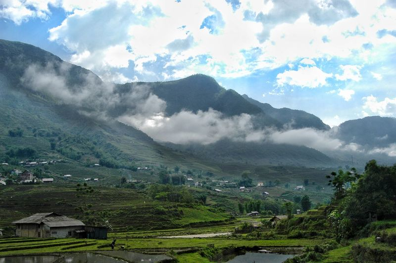 Vietnam SaPa Mountain Scenics - Nature Beauty In Nature Landscape Cloud - Sky Tranquil Scene Environment Sky Plant No People Tranquility Nature Mountain Range Land Day Non-urban Scene Green Color Tree Growth Idyllic