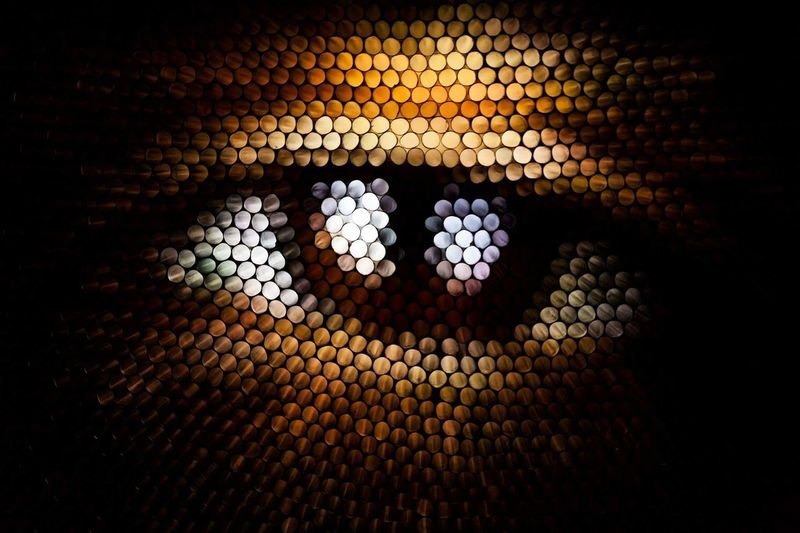 Pattern No People Close-up Illuminated Indoors  Textured  Abstract Pixelated Straws Strawcamera Eye Perspectives On People See The Light
